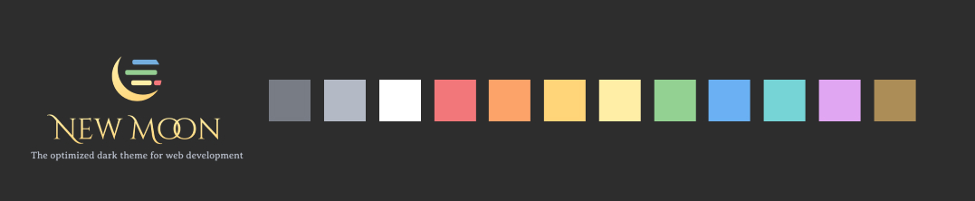 color palette of New Moon theme